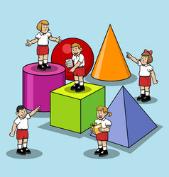 learn base shape at elementary school vector image