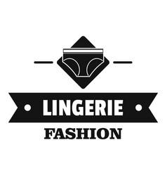 Lingerie beauty logo simple black style vector