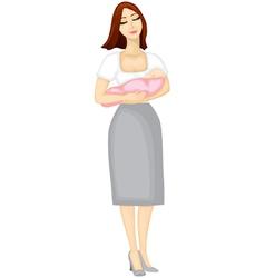 Mama a girl vector