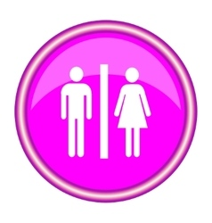 Man and lady toilet sign vector image