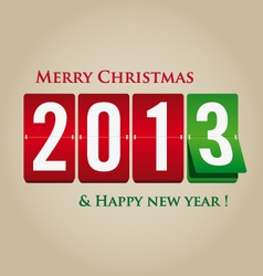 Merry Christmas and happy new year 2013 mechanical vector image