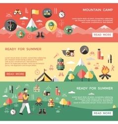 mountaineering horizontal banners set vector image