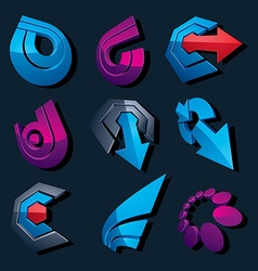 Multimedia signs collection isolated on black vector