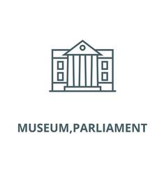 museumparliament line icon linear concept vector image