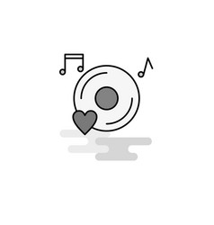 music disk web icon flat line filled gray icon vector image