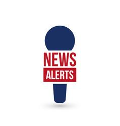 News alerts breaking logo tv design element vector