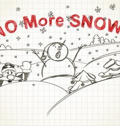 No more snow vector