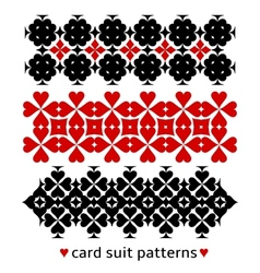 Patterns with card suits vector image