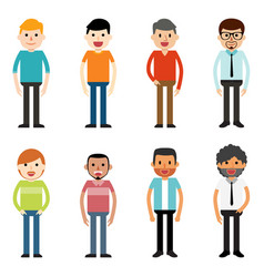people characters men vector image vector image