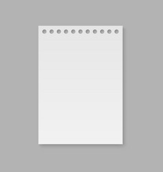 Realistic notebook paper page vector