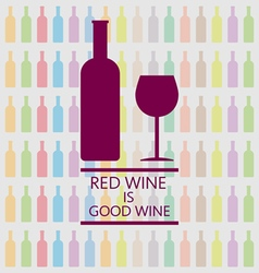 Red wine is good tasting card vector
