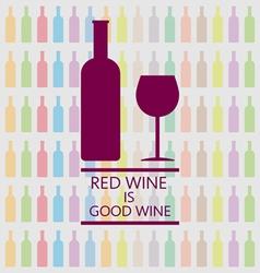 Red wine is good tasting card vector