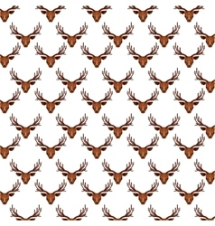 reindeer head pattern low poly isolated icon vector image