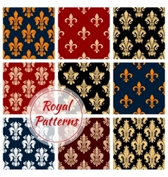 Royal flower patterns set floral ornament vector image