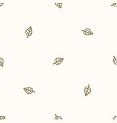 Seamless background single forest leaf gender vector