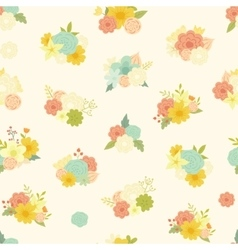 seamless pattern with beautiful bouquets vector image