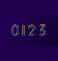 set of colorful modern abstract numbers creative vector image