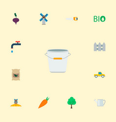 set of harvest icons flat style symbols with vector image