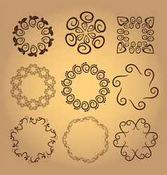 Set of vintage design elements5 vector