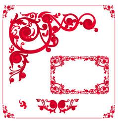 set vintage frames and elements vector image