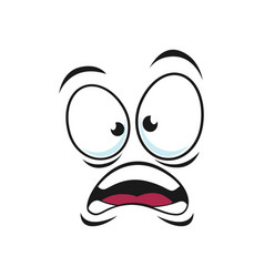 Shocked emoticon expression puzzled emoji icon vector