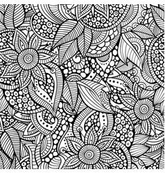 Sketchy doodles decorative floral ornamental vector