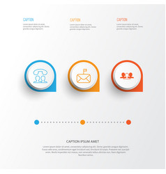 Social icons set collection of group significant vector