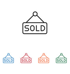 sold icon vector image
