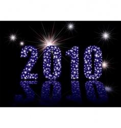 starburst 2010 fireworks vector image