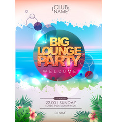summer party poster design big lounge party vector image