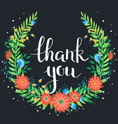 Thanks wreath vector image