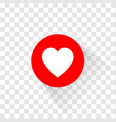 the heart like and love icon vector image