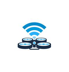 wifi drone logo icon design vector image