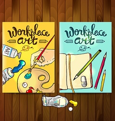 Workplace art vector