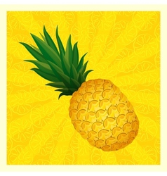 yellow pineapple background vector image
