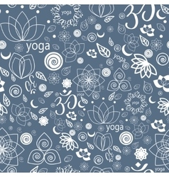 Yoga Labels and Icons seamless pattern vector image