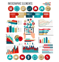 Business infographics template vector image vector image
