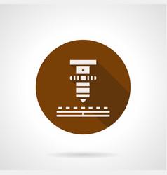 High precision laser brown round icon vector