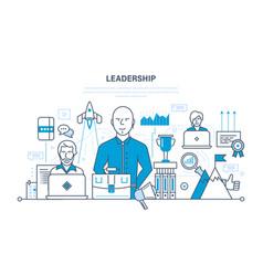 leadership skills career success and education vector image