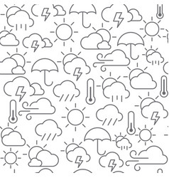 line style icons seamless pattern weather vector image vector image