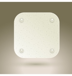 Blank square button vector image vector image