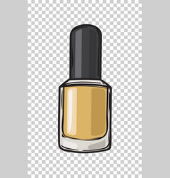 fashioable gold nail varnish isolated vector image