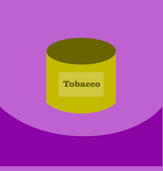 flat icon with dark shadow tobacco for shisha in vector image vector image