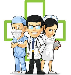 Health Care or Medical Staff Doctor Nurse Surgeon vector image