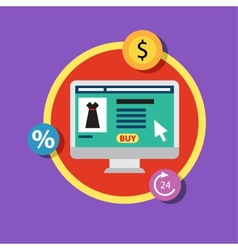 Online shopping and business Conceptual vector image