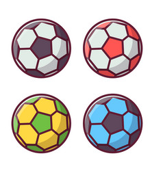 soccer or football colorful ball set vector image vector image