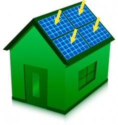solar energy house vector image
