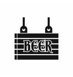 Street signboard of beer icon simple style vector image
