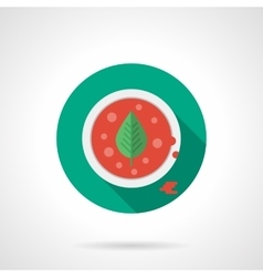 Tomato soup flat color design icon vector image