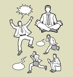 Businessman icons sketch vector image
